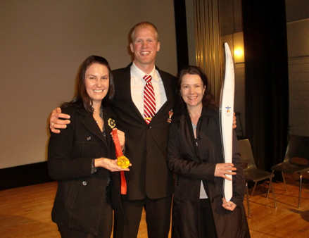 adam kreek olympic torch and gold medal